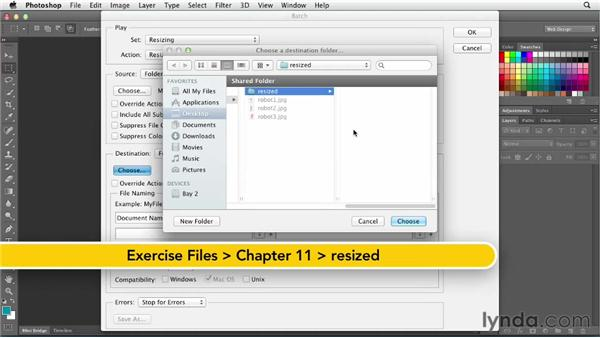 Exploring batch processing: Photoshop CS6 for Web Design (2012)