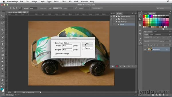 Using the Fit Image command: Photoshop CS6 for Web Design (2012)