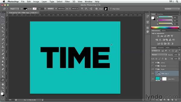 Illustrating a concept with shape layers and layer masks: Photoshop for Designers: Type Effects