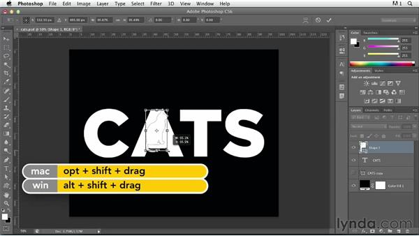 Modifying letterforms: Photoshop for Designers: Type Effects