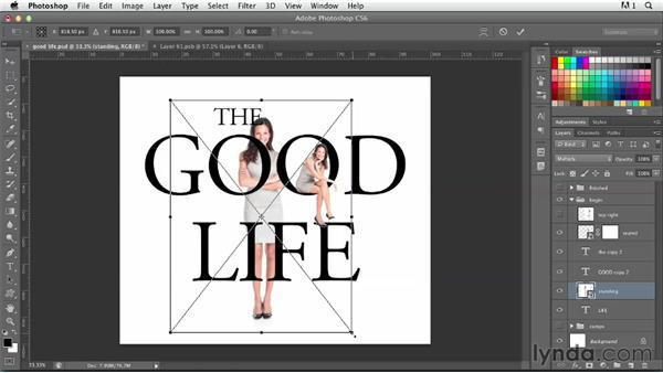 Replacing letters with pictures: Photoshop for Designers: Type Effects