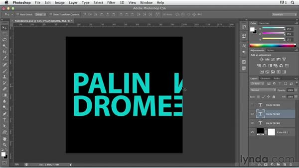 Illustrating a concept using transparency: Photoshop for Designers: Type Effects