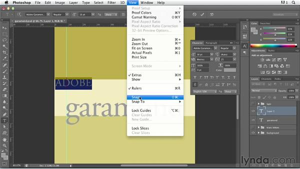 Creating a type poster: Photoshop for Designers: Type Effects