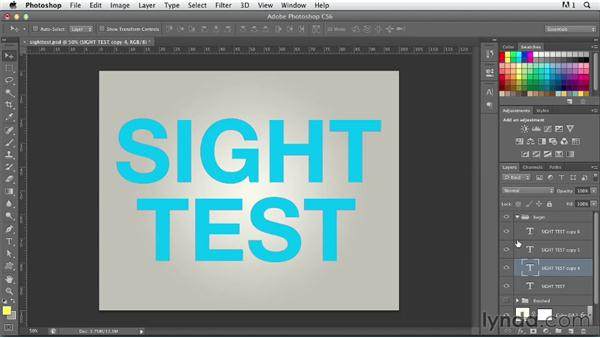 Illustrating a concept using blurred text: Photoshop for Designers: Type Effects