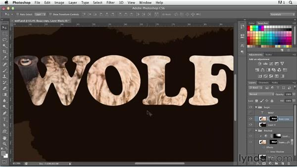 Combining type and shape: Photoshop for Designers: Type Effects