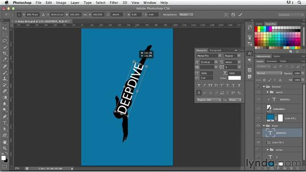 Putting type in a picture: Photoshop for Designers: Type Effects