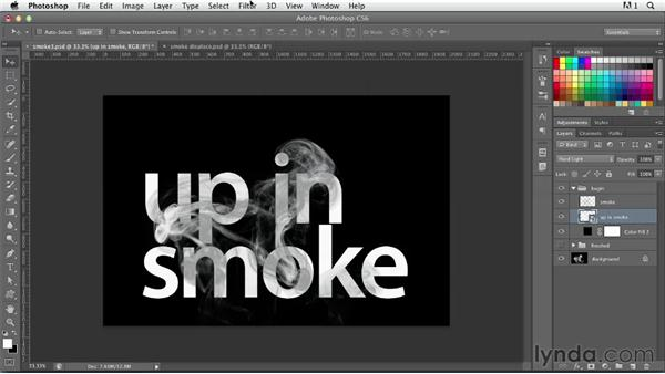 Creating smoky type: Photoshop for Designers: Type Effects