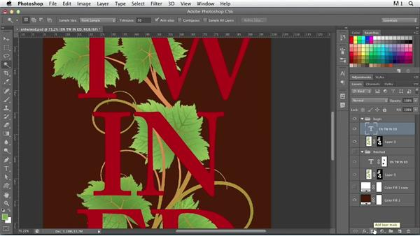 Creating entwined type: Photoshop for Designers: Type Effects