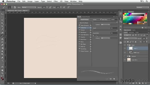 Creating sand grain type: Photoshop for Designers: Type Effects