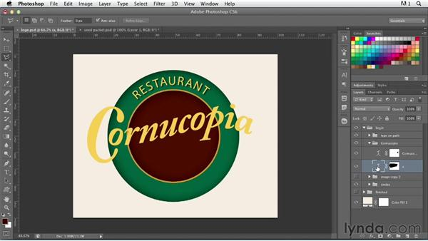 Creating a nostalgic logo: part one: Photoshop for Designers: Type Effects