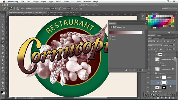 Creating a nostalgic logo: part two: Photoshop for Designers: Type Effects