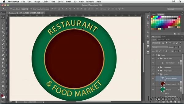 Creating a nostalgic logo: part three: Photoshop for Designers: Type Effects
