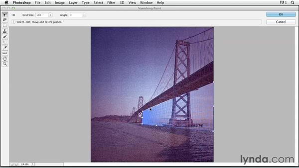 Using a Vanishing Point grid: Photoshop for Designers: Type Effects
