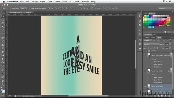 Combining Illustrator perspective grids: Photoshop for Designers: Type Effects