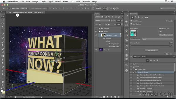 Creating a basic 3D type design: Photoshop for Designers: Type Effects