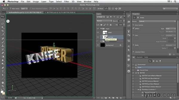 Illustrating a concept with 3D: Photoshop for Designers: Type Effects