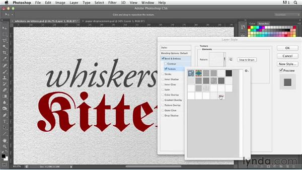 Creating a simple letterpress effect: Photoshop for Designers: Type Effects