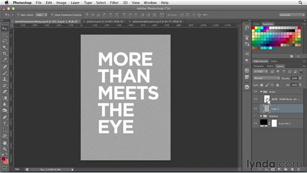 Using Liquify to create type patterns: Photoshop for Designers: Type Effects