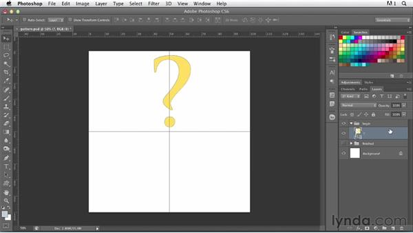 Making abstract patterns from letterforms: Photoshop for Designers: Type Effects