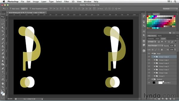 Working with repetition and pattern: Photoshop for Designers: Type Effects