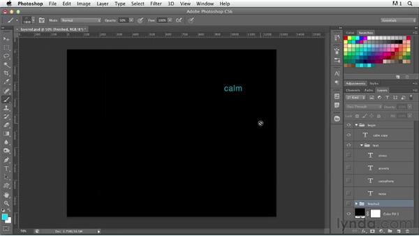 Working with multi-layered type: Photoshop for Designers: Type Effects