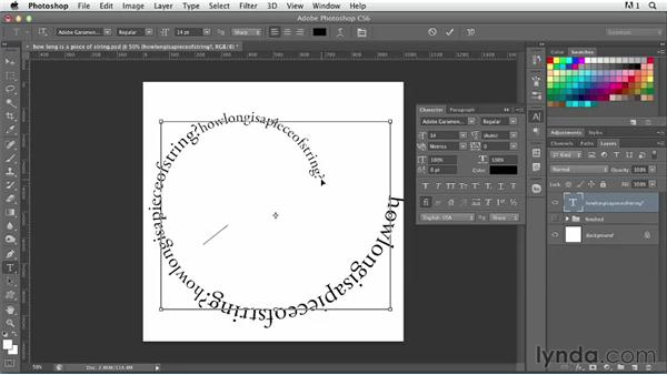 Layering type on a spiral: Photoshop for Designers: Type Effects