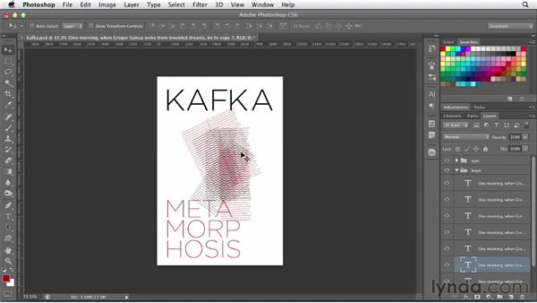 Creating a book cover with multi-layered type: Photoshop for Designers: Type Effects