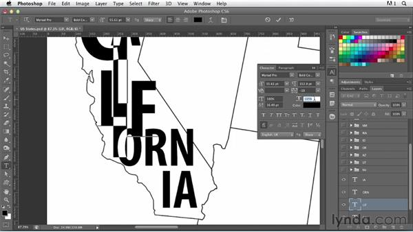 Creating a typographic map: Photoshop for Designers: Type Effects