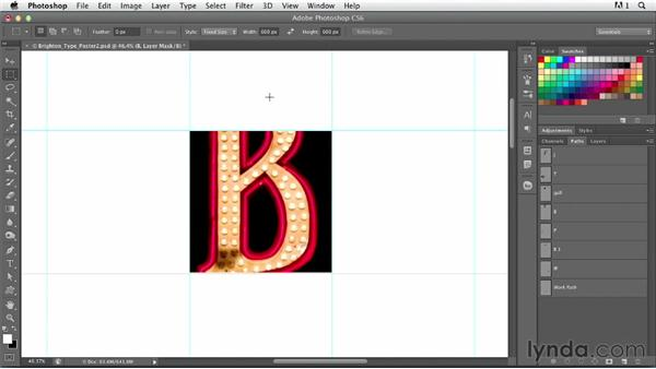 Creating an environmental alphabet: Photoshop for Designers: Type Effects