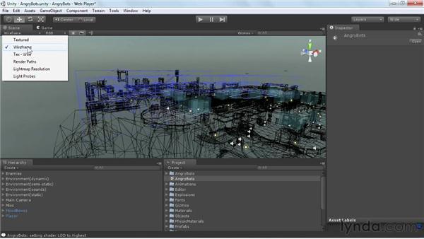 Exploring Scene view: Unity 3D 3.5 Essential Training