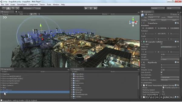 Navigating Scene view: Unity 3D 3.5 Essential Training