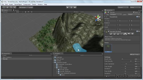 Painting trees and forests: Unity 3D 3.5 Essential Training