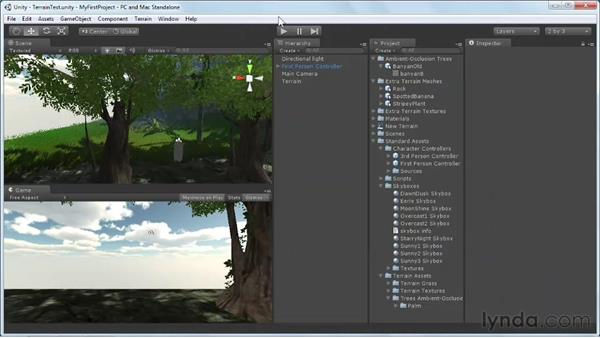 Publishing project settings: Unity 3D 3.5 Essential Training