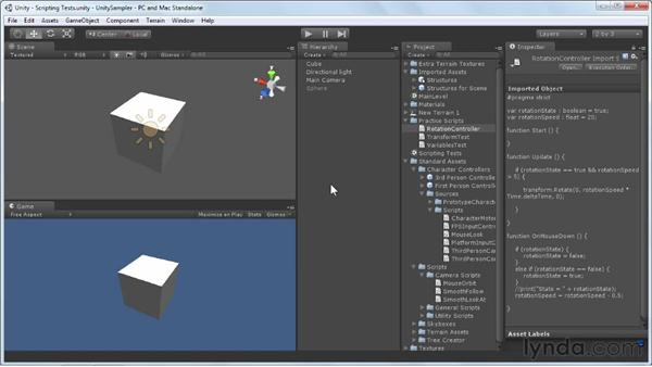 Using conditionals to create gameplay: Unity 3D 3.5 Essential Training