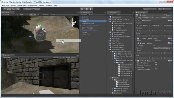 Creating GameObjects: Unity 3D 3.5 Essential Training