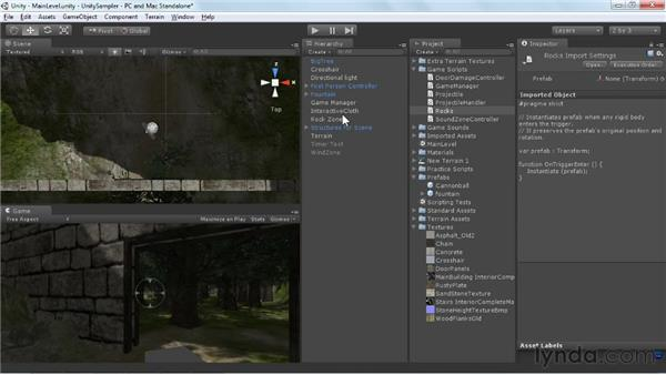 Creating and reusing prefabs: Unity 3D 3.5 Essential Training