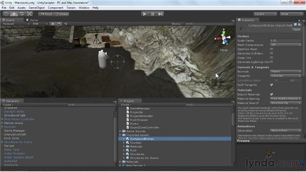 Importing static objects: Unity 3D 3.5 Essential Training