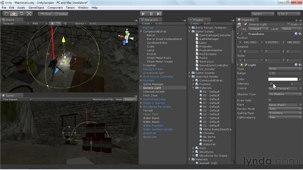 Looking at light types: Unity 3D 3.5 Essential Training
