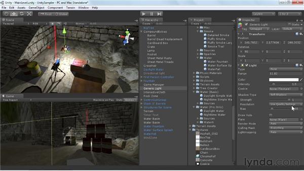 Exploring shadows: Unity 3D 3.5 Essential Training