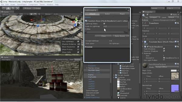 Baking lighting with Beast: Unity 3D 3.5 Essential Training