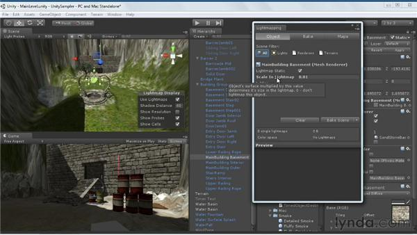 Baking the game scene: Unity 3D 3.5 Essential Training