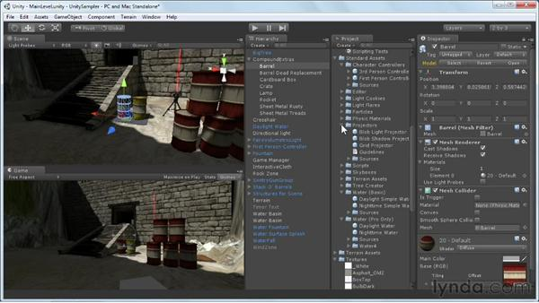 Creating lighting effects: Unity 3D 3.5 Essential Training