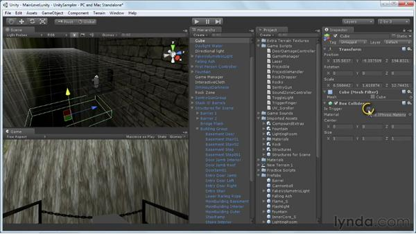 Exploring waypoints and death zones: Unity 3D 3.5 Essential Training