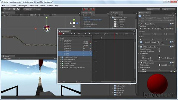 Working with multiple animation clips: Unity 3D 3.5 Essential Training
