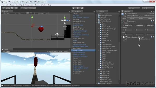 Triggering keyframe animations: Unity 3D 3.5 Essential Training