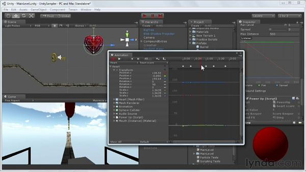 Keyframing events: Unity 3D 3.5 Essential Training