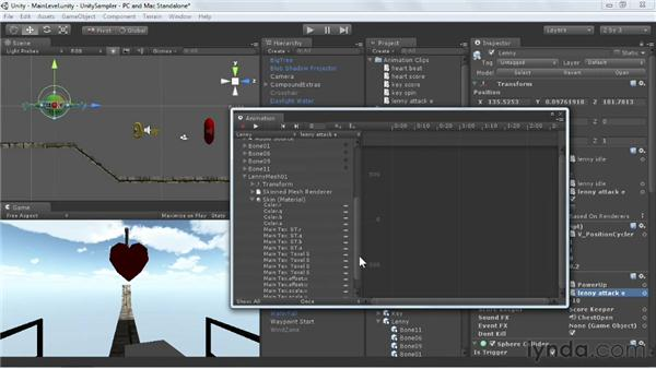 Adding to imported animations: Unity 3D 3.5 Essential Training