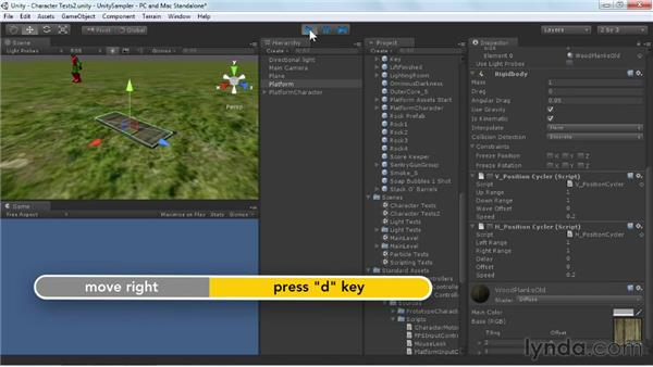 Importing an animated character: Unity 3D 3.5 Essential Training