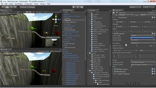 Introducing cameras: Unity 3D 3.5 Essential Training