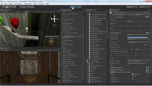Managing multiple levels: Unity 3D 3.5 Essential Training